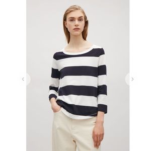 COS 3/4-Sleeve Striped Top